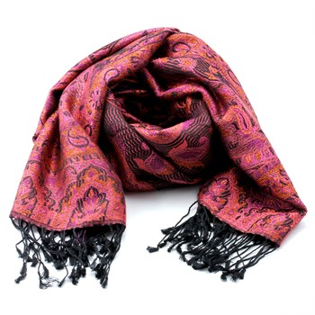 Muted Pink Paisley Silk Scarf 340043