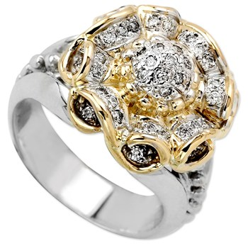 130-195-Flower Diamond Ring