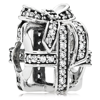 PANDORA All Wrapped Up with Clear CZ Charm-802-3131