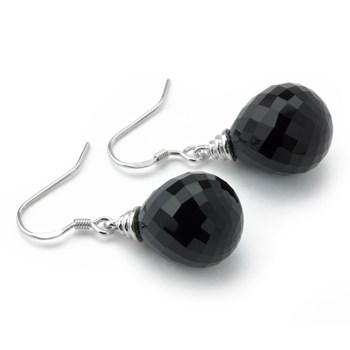Large Agate Earrings-645-1115