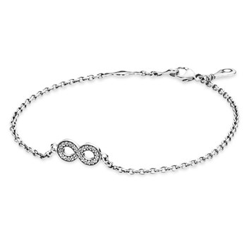 PANDORA Symbol of Infinity with Clear CZ Bracelet