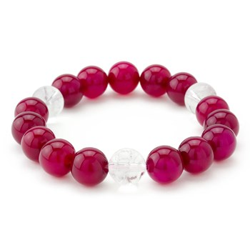 Red & Clear Stretch Bracelet-655-3300