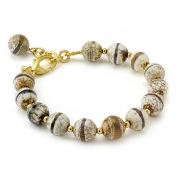Etched Quartz Bracelet-210-805 ONLY 2 LEFT!