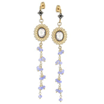 349298-Lavender Chalcedony Earrings