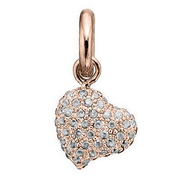 346949-STORY by Kranz & Ziegler Rose Gold Plated Clear Pave Heart Charm