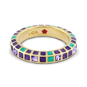 Purple & Green 'Stackable Fiesta' Ring