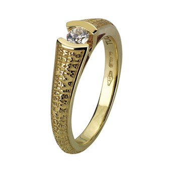 Our Father Gold 0,15 Ct Diamond Ring