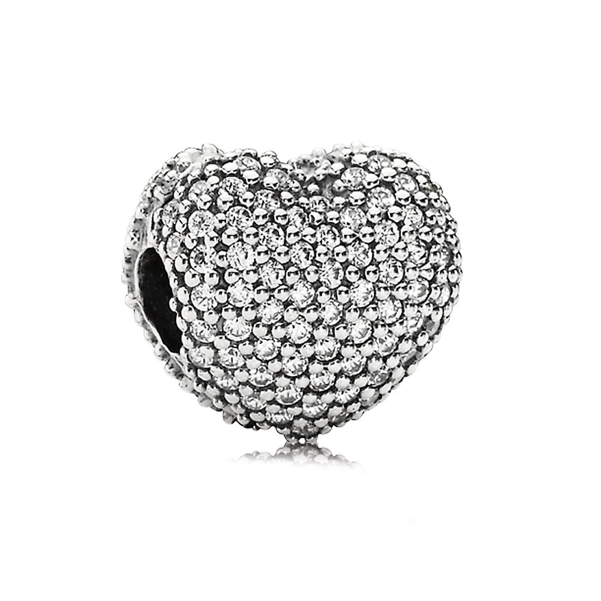 802-772-PANDORA Open my Heart with Clear Pavé Clip