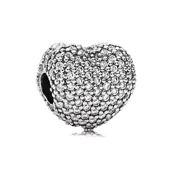 PANDORA Pavé Open my Heart with Clear CZ Clip-802-772