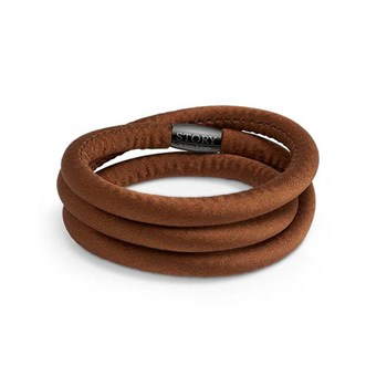 STORY by Kranz & Ziegler Triple Wrap Light Brown Silk Bracelet PRE-ORDER