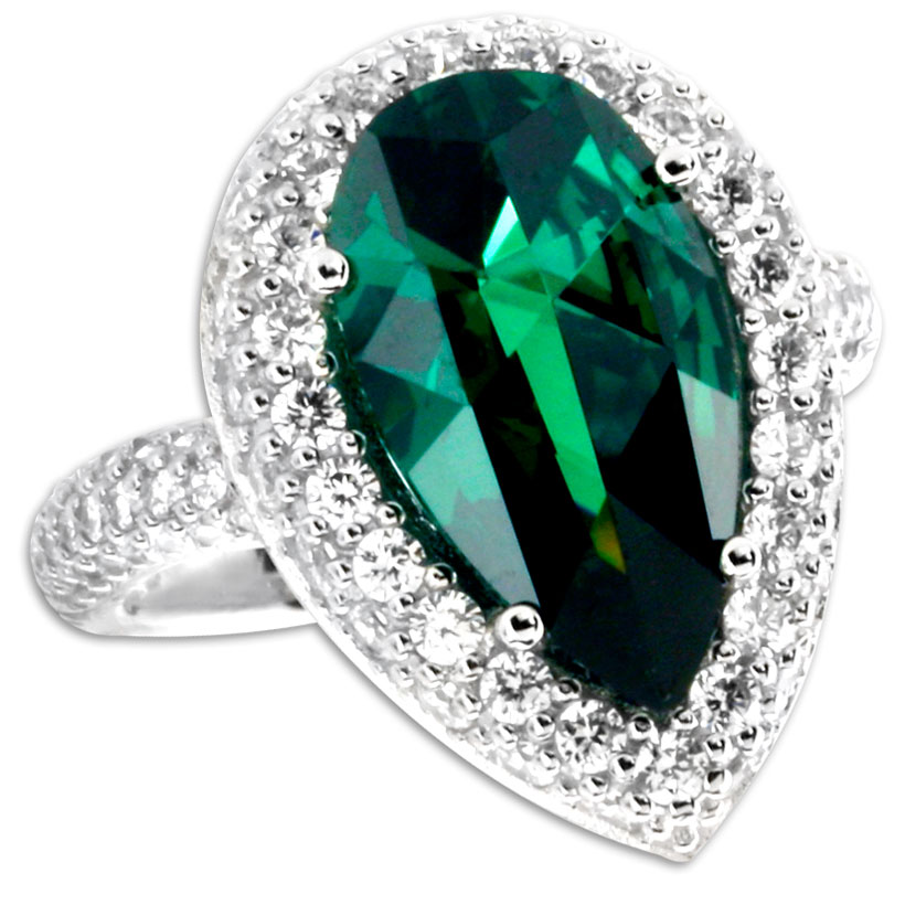 338530-Emerald CZ Ring ONLY 1 LEFT!