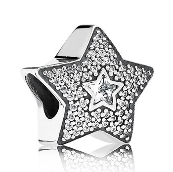 PANDORA Wishing Star with Clear CZ Charm RETIRED