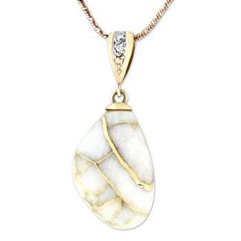 Gold in Quartz Pendant-343382