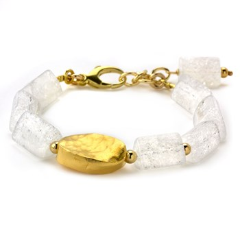 Lollies Clear Quartz Crystal Bracelet