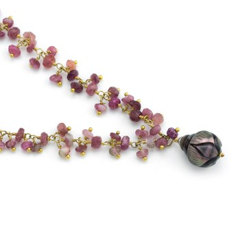 Pearl & Tourmaline Necklace-348525