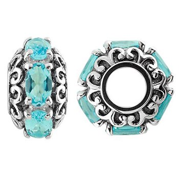 Storywheels Swiss Blue Topaz Sterling Silver Wheel-333742
