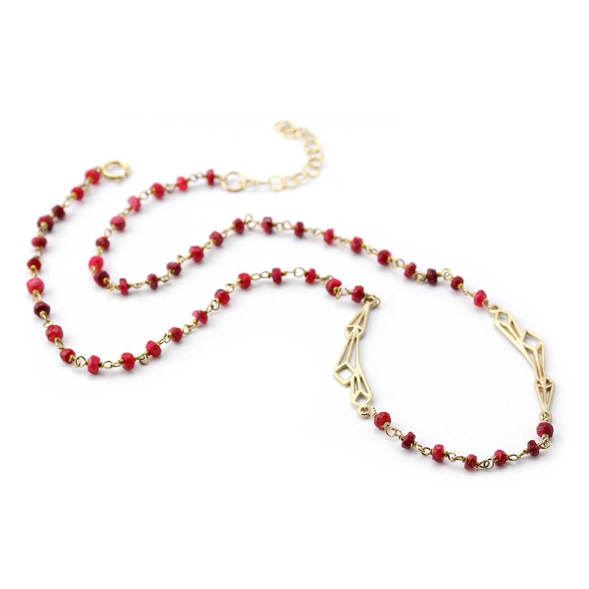 Abstract Ruby Necklace-235-587