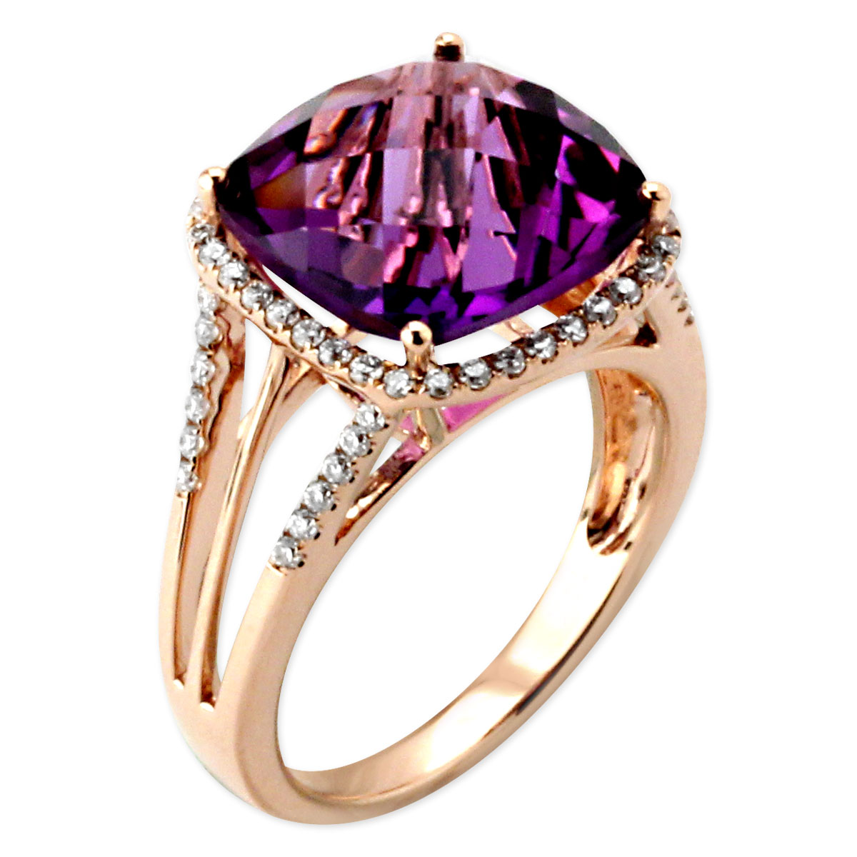 345643-Amethyst and Diamond Ring