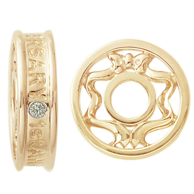 263054-Storywheels Diamond 1 Year Anniversary 14K Gold Wheel ONLY 1 AVAILABLE!