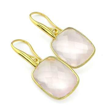 Rose Quartz Earrings-210-819