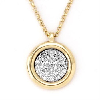 Diamond Disc Pendant-343334