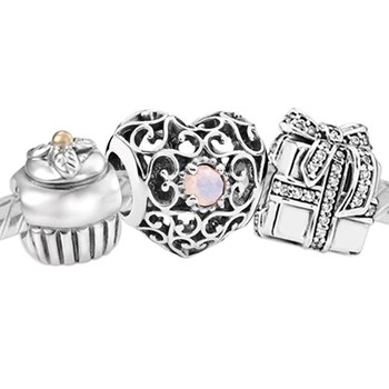 3387-PANDORA Happy October Birthday Set