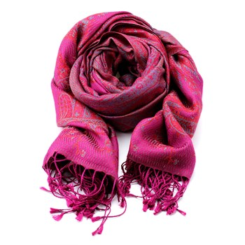 Pink & Purple Patterned Shawl-340040