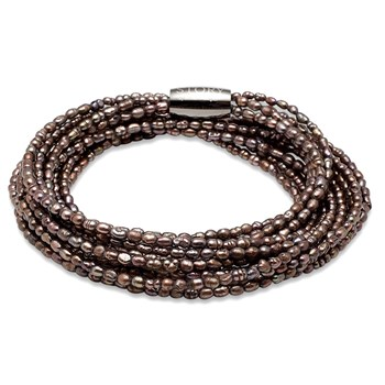 STORY by Kranz & Ziegler 5 Strand Brown Pearl Bracelet RETIRED ONLY 2 LEFT!