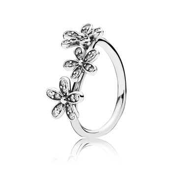 PANDORA Dazzling Daisies with Clear CZ Ring