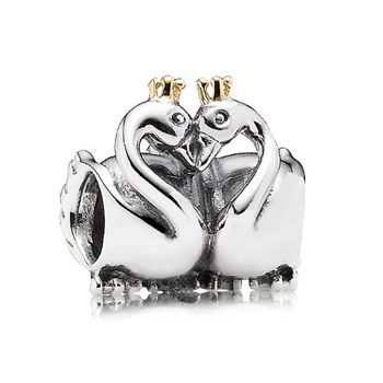 PANDORA Swan Embrace Charm RETIRED