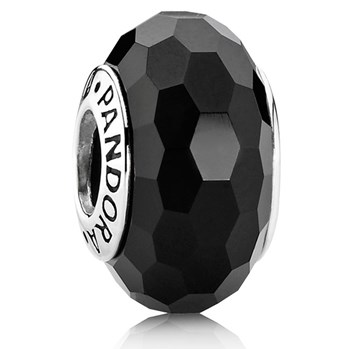 PANDORA Fascinating Black Faceted Murano Glass 341643