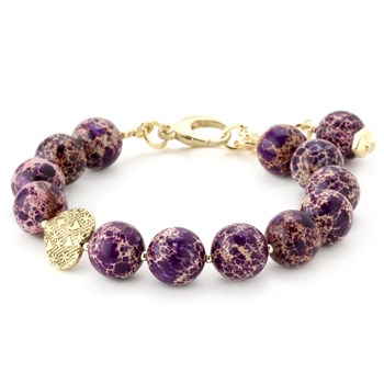 344506-Lollies Purple Snakeskin Jasper Bracelet