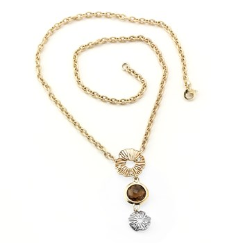 Smokey Quartz and Diamond Necklace-348890