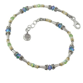220972-Blue & Green Anklet