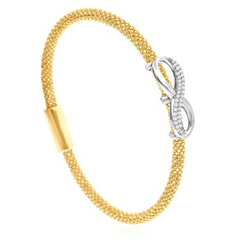 Infinity Yellow Bling Bangle-344920
