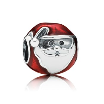 802-1742-PANDORA Jolly Santa with Enamel Charm