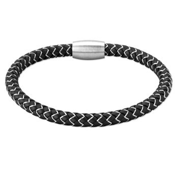 343253-Rhodium Copper & Rubber Bracelet