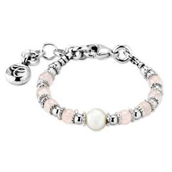 Rose Quartz and Pearl Baby Bracelet 342884