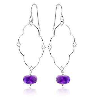 Amethyst Earrings-645-2889