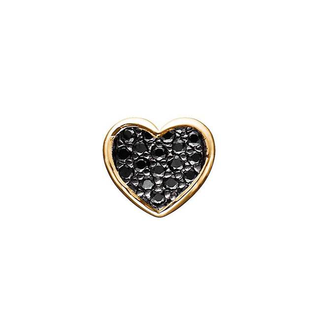 STORY by Kranz & Ziegler Gold-Plated Pave Heart Button PRE-ORDER