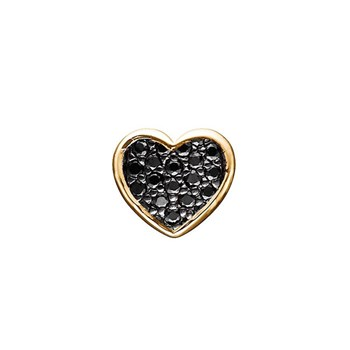 STORY by Kranz & Ziegler Gold-Plated Pave Heart Button