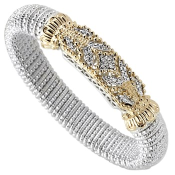 344939-Filigree Bar Diamond Bracelet