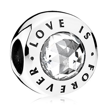 PANDORA Love is Forever with Clear CZ Charm