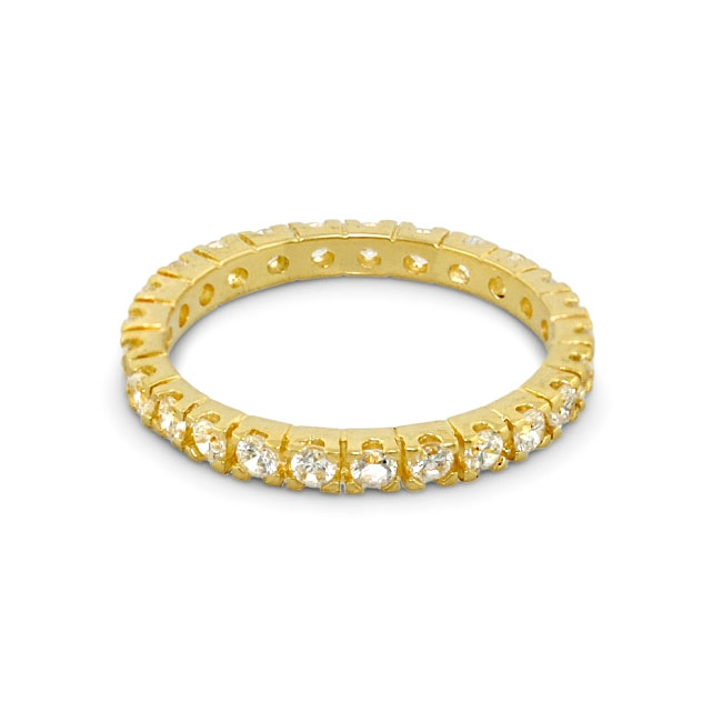 Yellow Gold 3mm 'Eternity' Ring