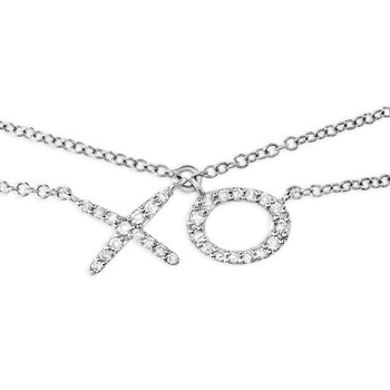 "341763-""XO"" Double Chain Necklace"
