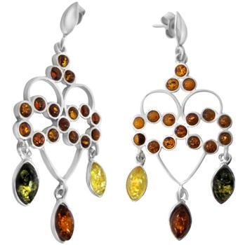 334922-Amber Heart Earrings