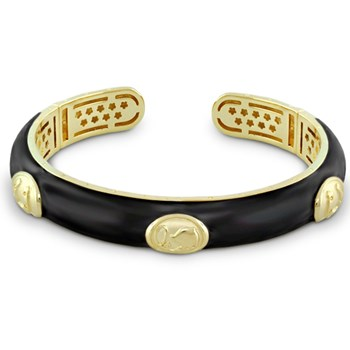 655-02149-Black 'Equestrian' Bangle