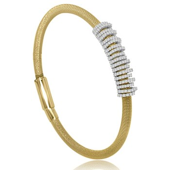 Yellow Rings Bling Bangle-344919