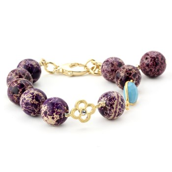 344558-Lollies Purple Snakeskin Jasper Bracelet