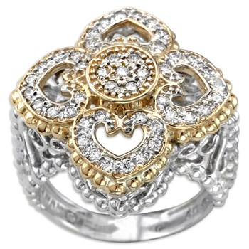 130-192-Floral Diamond Ring